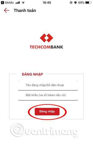 Ghi tên tài khoản ngân hàng