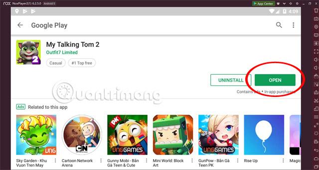 Mở trò chơi My Talking Tom 2 Play Store NoxPlayer