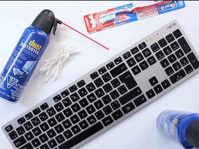 Làm sạch bàn phím