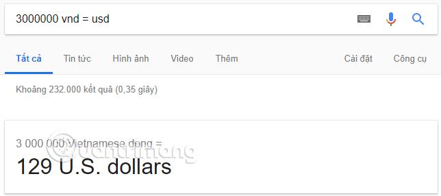 Chuyển tiền Việt sang tiền USD bằng Google