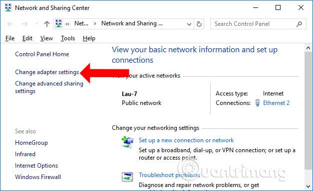 Mở kết nối mạng