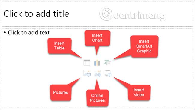 Biểu tượng trong slide