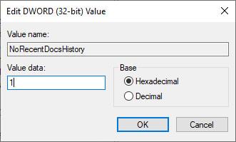 """Nhấp đúp vào giá trị mới được tạo và đặt dữ liệu cho giá trị thành """"1"""""""