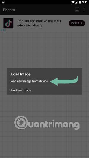 Chọn Load ảnh từ thiết bị