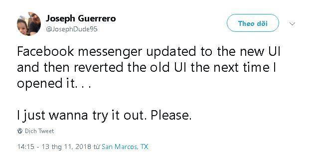 Phản ánh của người dùng về việc Messenger quay lại giao diện cũ 1