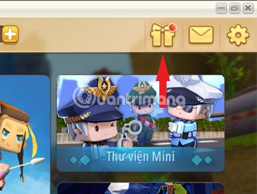 Biểu tượng nhận quà Mini World