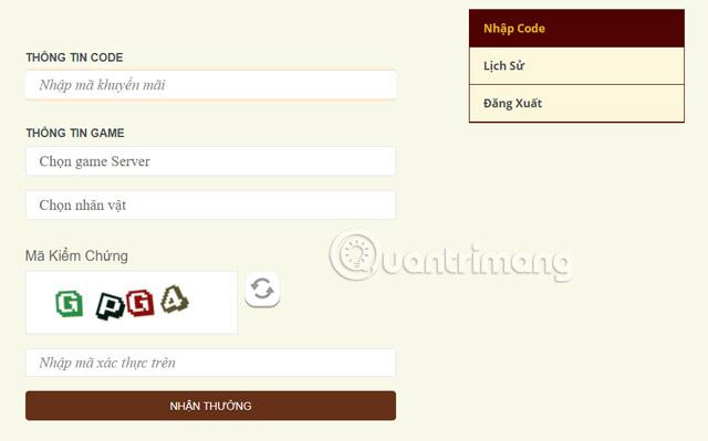 Ghi thông tin tài khoản để nhận quà từ Giftcode MU Awaken
