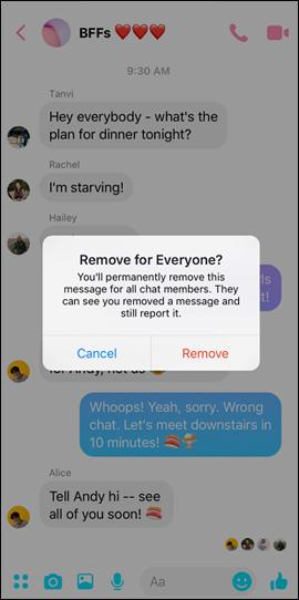 Xác nhận thu hồi tin nhắn