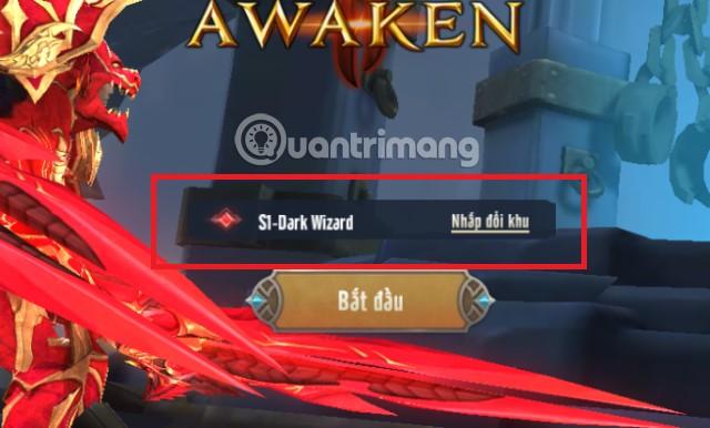 Chọn Server MU Awaken