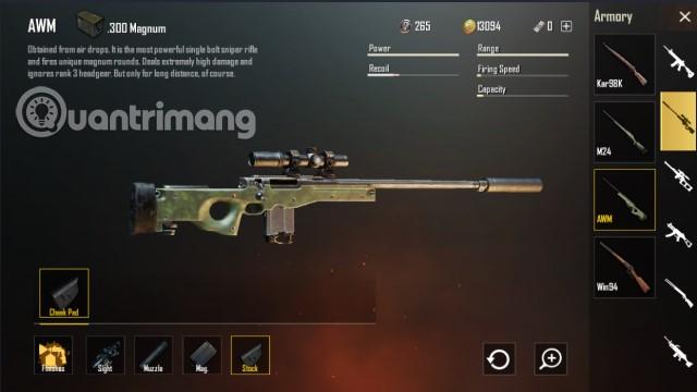 Sniper Rifle PUBG Mobile