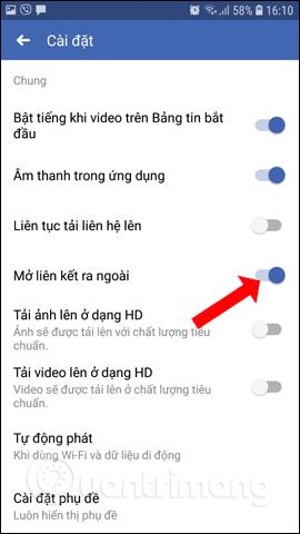 Cách tắt trình duyệt mặc định trên Facebook - Ảnh minh hoạ 6
