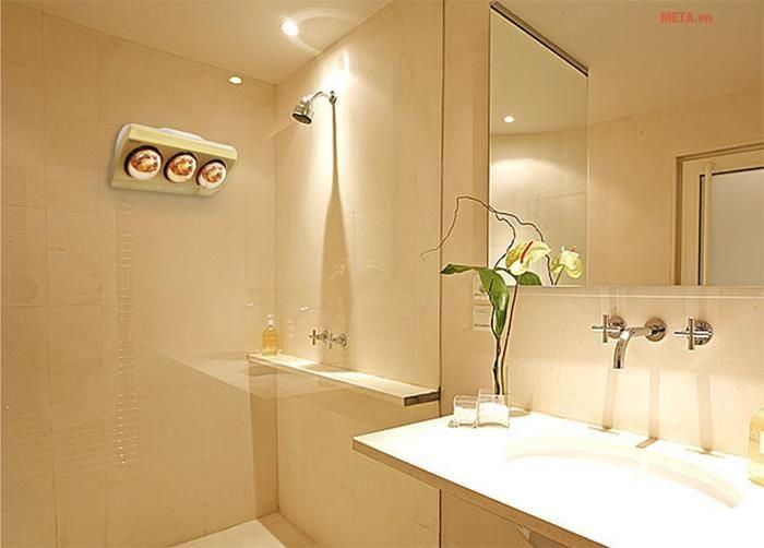 Đèn sưởi nhà tắm có nhiều công suất cho các diện tích phòng tắm khác nhau.