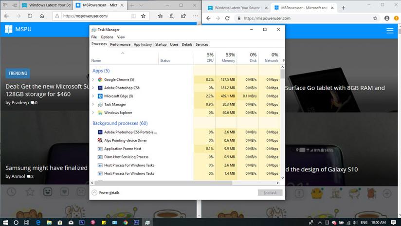 Chiếm dung lượng RAM và CPU