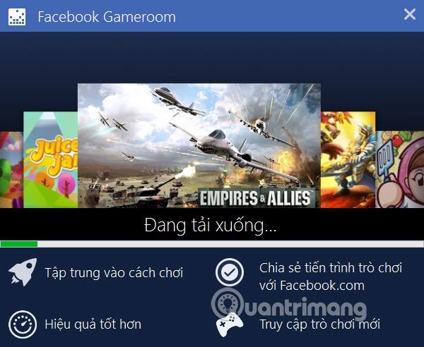 Cài Facebook Gameroom