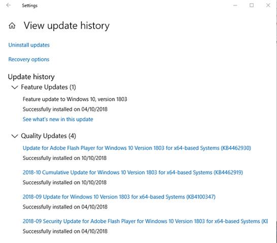 Kiểm tra bản dựng Windows 10