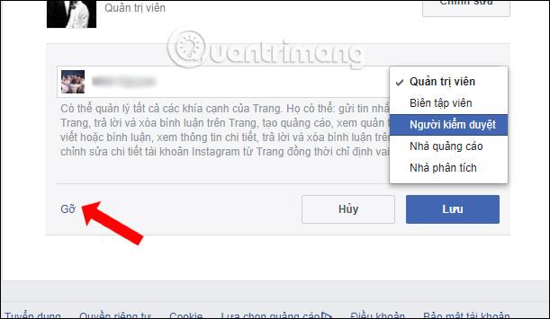 Cách hủy Admin Fanpage Facebook - Ảnh minh hoạ 6