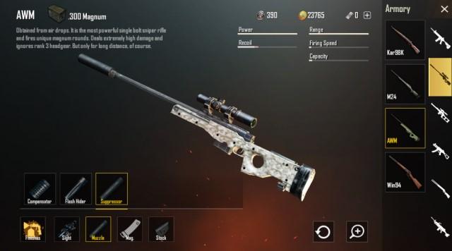 PUBG Mobile AWM Gun