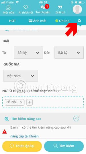 Công cụ tùy chọn thông tin người dùng YmeetMe