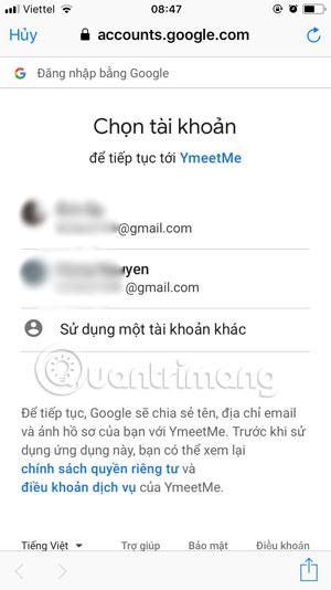 Những cách đăng nhập trên YmeetMe - Ảnh minh hoạ 3