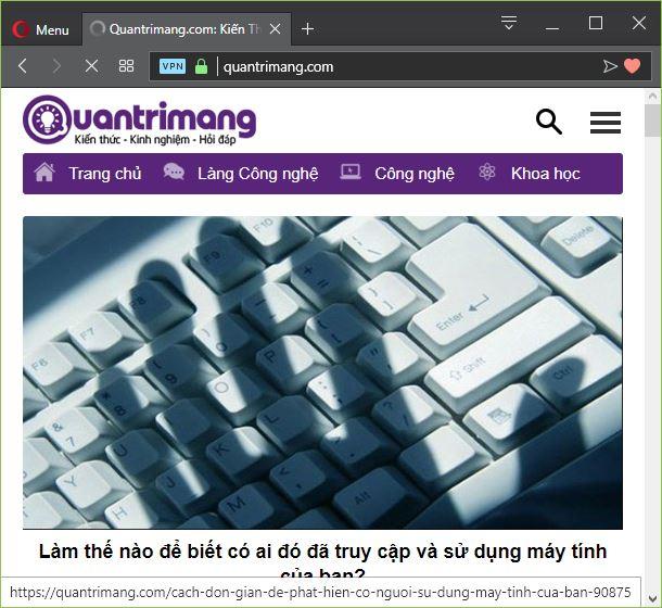Giao diện website Quantrimang.com