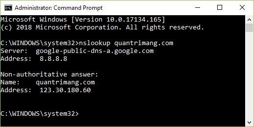 Truy vấn DNS server