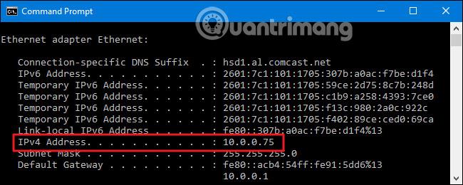 Tìm địa chỉ IPv4