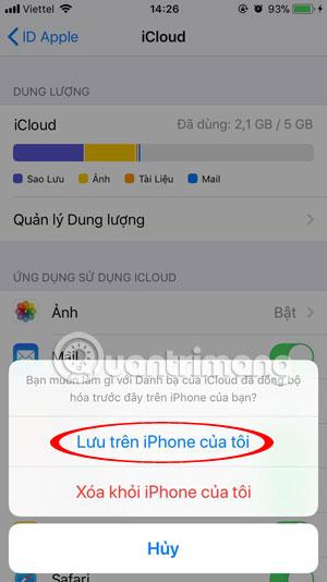 Lưu trên iPhone của tôi