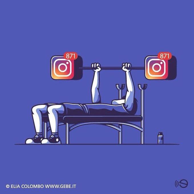 Bài luyện tập mỗi ngày của con người chính là lượt tương tác trên mạng xã hội