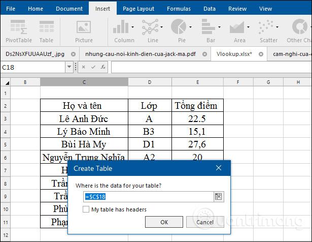 Công cụ trên Excel