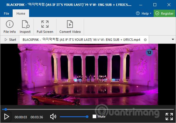 Xem video trên phần mềm