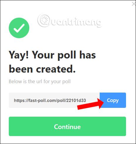 URL cuộc bình chọn