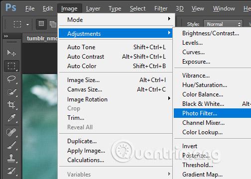 Chọn công cụ Photo Filter