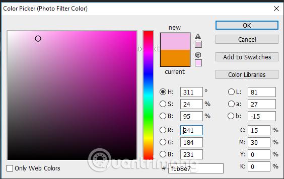 Chọn màu sắc