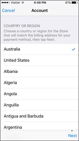 Chuyển quốc gia App Store