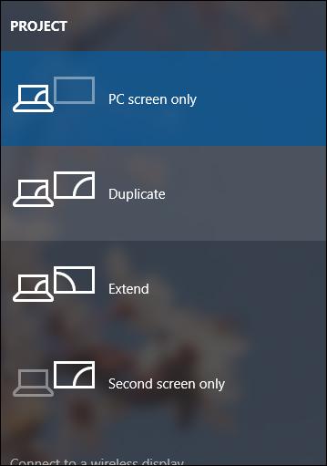 Chọn kết nối nhiều màn hình
