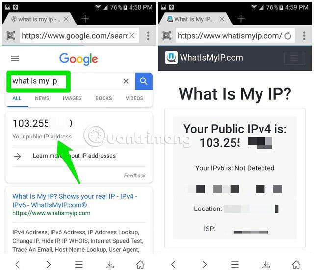 Tìm địa chỉ IP public