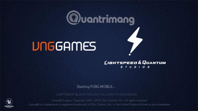 Giao diện khởi động PUBG Mobile VNG