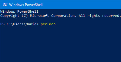 Khởi chạy Performance Monitor từ Command Prompt hoặc PowerShell