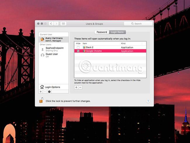 Thay đổi ứng dụng sẽ load khi khởi động