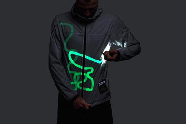 Vẽ luồng sáng lên áo thông qua chiếc Pin cầm tay nào đó bên ngoài