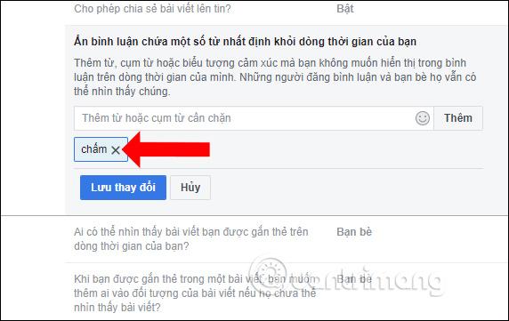 Cách ẩn bình luận trên Facebook bằng từ khóa - Ảnh minh hoạ 5
