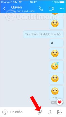 Khung chat Zalo