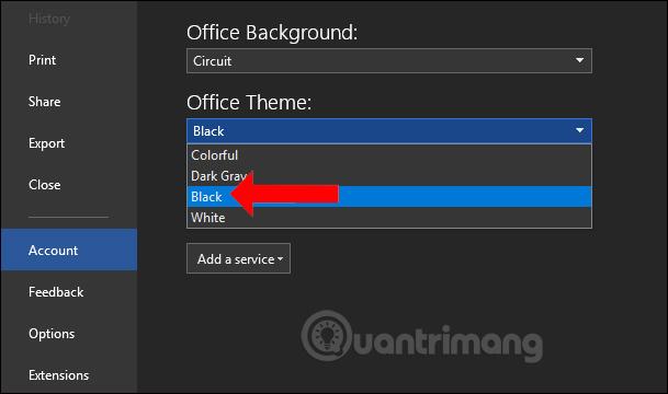Cách bật chế độ màu tối trên Office 2019 - Ảnh minh hoạ 8