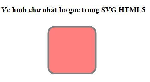 Hình chữ nhật bo góc SVG