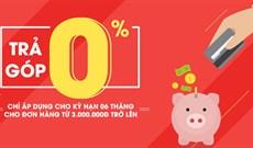 Hướng dẫn mua hàng trả góp 0% trên Sendo