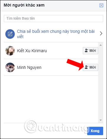 Nhấn tên tài khoản