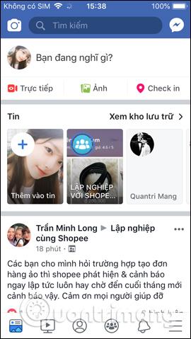Facebook điện thoại