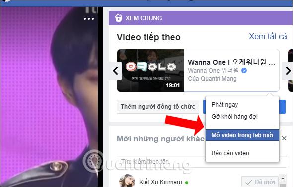 Tùy chọn video trong list