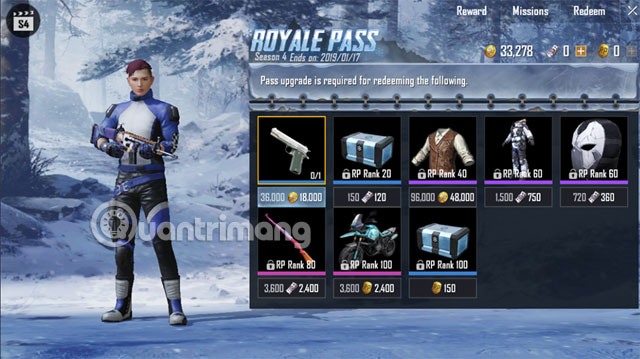 Cửa hàng Royale Pass PUBG Mobile
