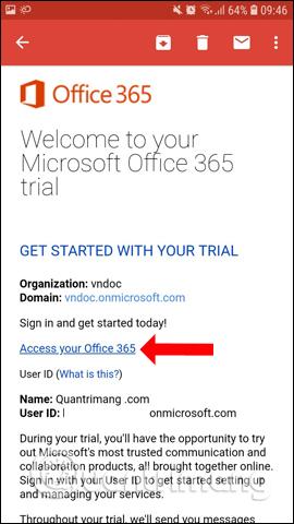 Địa chỉ email đăng ký
